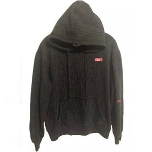 ALIFE All Over Print Embroidered Box Logo Hoodie